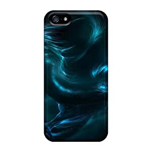 Awesome UJKWfHG5606WPQhy AndrewWMorton Defender Tpu Hard Case Cover For Iphone 5/5s- Blue Dragon