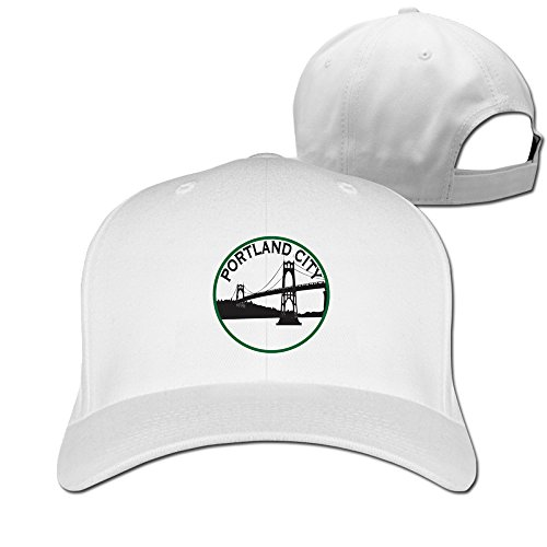 - City Of Portland White Adjustable Baseball Hats For Man Woman