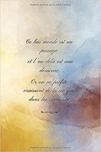Ce Bas Monde Est Un Passage Carnet De Notes Journal De