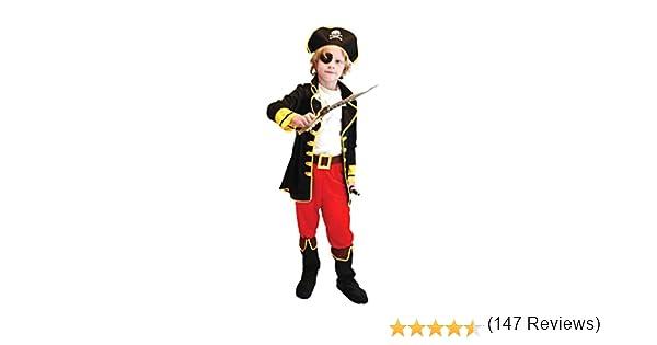 Pretty Princess Disfraz de Capitán Pirata para Niños Incluyendo ...