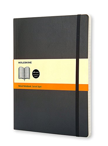 Price comparison product image Moleskine Classic Notebook, Extra Large, Ruled, Black, Soft Cover (7.5 x 9.75) (Classic Notebooks)