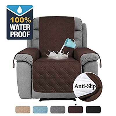 H.VERSAILTEX 100% Waterproof Furniture Protector for Recliner Sofa Cover for Leather Sofa, Non-Slip Protector for Recliner Chair Cover Protect from Pets Kids