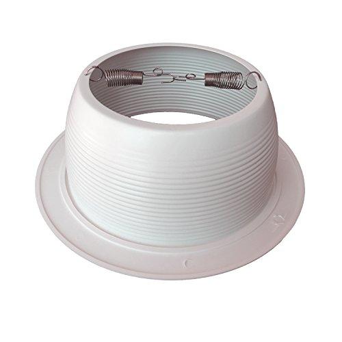 [12-Pack] PROCURU 6'' White Baffle Metal Recessed Can Light Trim - for BR30/38/40, PAR30/38/40 LED, Incandescent, CFL, Halogen (White (12-Pack)) by PROCURU (Image #1)'
