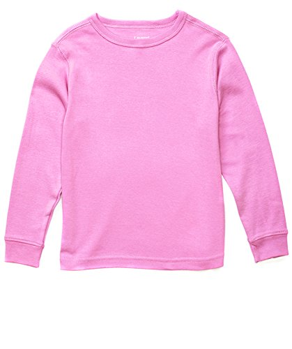 Price comparison product image Leveret Long Sleeve Solid T-Shirt 100% Cotton (14 Years, Light Pink)