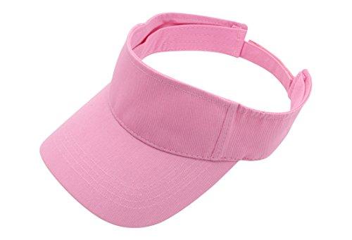 Top Level Sun Sports Visor Men Women - 100% Cotton One Size Cap Hat, PNK