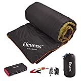 Elevens 3-in-1 Battery Powered Heated Blanket for 4-Season Traveling, Camping, Hiking Outdoor Activities