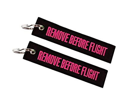 Moto Discovery Remove Before Flight Llavero Doble Cara Negro ...