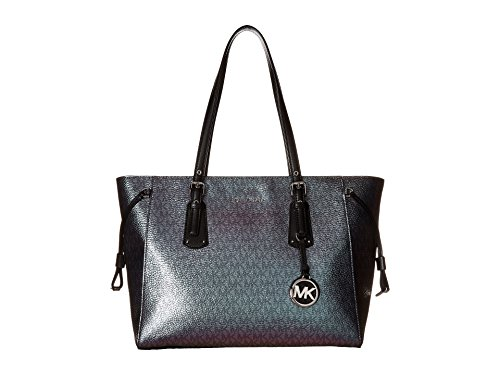 MICHAEL Michael Kors Voyager Medium Multifunction Top-Zip Tote (Metallic Hologram) by Michael Kors