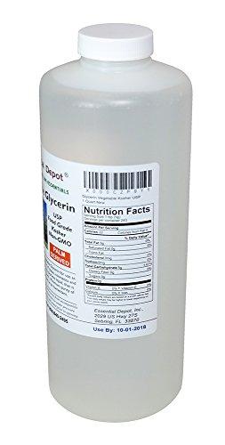 Glycerin Vegetable Kosher USP - 1 Quart (43 oz.)