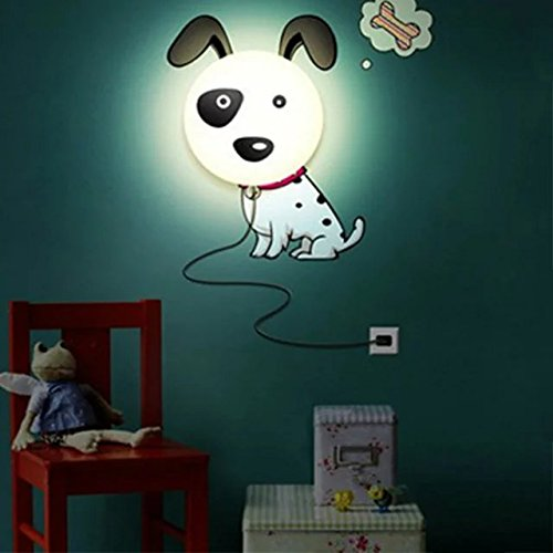 Cute Dog DIY Lamp Baby Nusery Home Room Decor Wallpaper Wall Sticker Night Light Lamp by Sealive