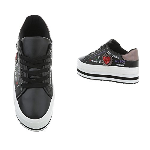 Nero Donna Ital Sneaker Ital Design Design Hwq0OPfB