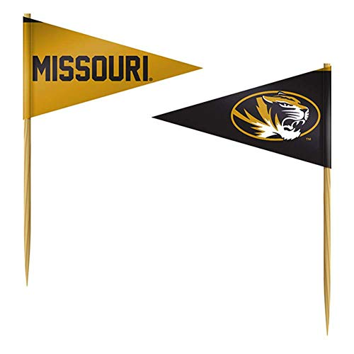 (Team ProMark Missouri Tigers Toothpick Flag - 36 Pack)