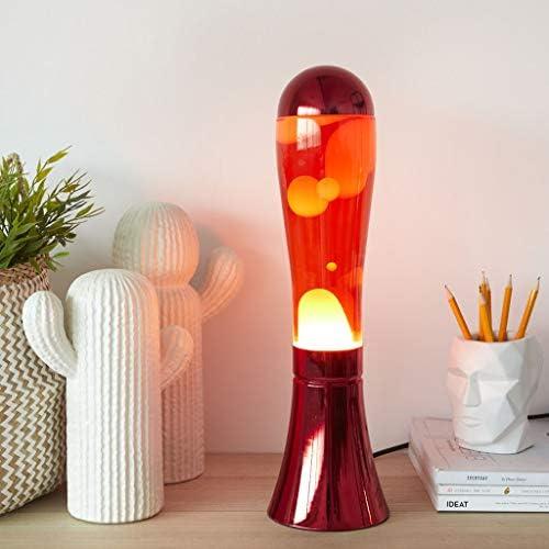 balvi Lavalampe Magma Rot Farbe Original und Spaß Lampe Lava Modernes Dekorationselement Aluminium/Glas 45x12x12 cm