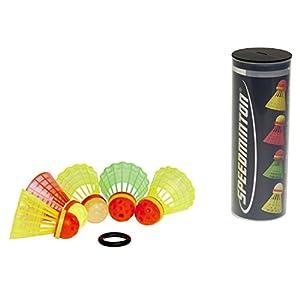 Speedminton Bälle 5er Speeder Mix Tube, Gelb/Rot/Grün, One Size, 400206