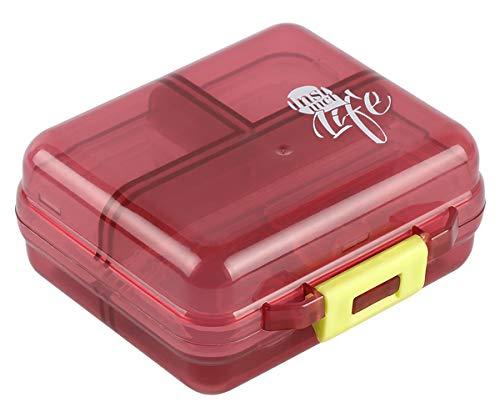 Chocolate Pocket Organizer - Bidear Pill Case Small Travel Vitamin Tablet Organizer Fish Oil Container Box for Purse Pocket, 7 Compartments(Chocolate)