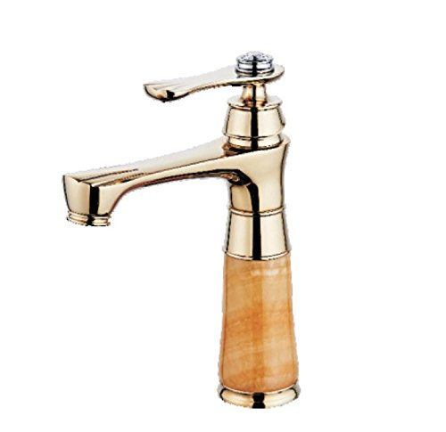 Hlluya Professional Sink Mixer Tap Kitchen Faucet Hot and cold water faucets, copper Jade Dragon, hot and cold running water. The golden basin mixer