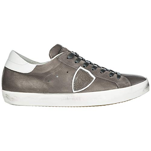 Philippe Paris Antracite Veau Sneakers Model Uomo w00FzqTxB
