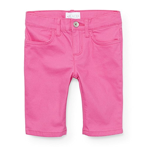 The Children's Place Big Girls' Colored Denim Skimmer Shorts, Pacific Pink 3994, 12