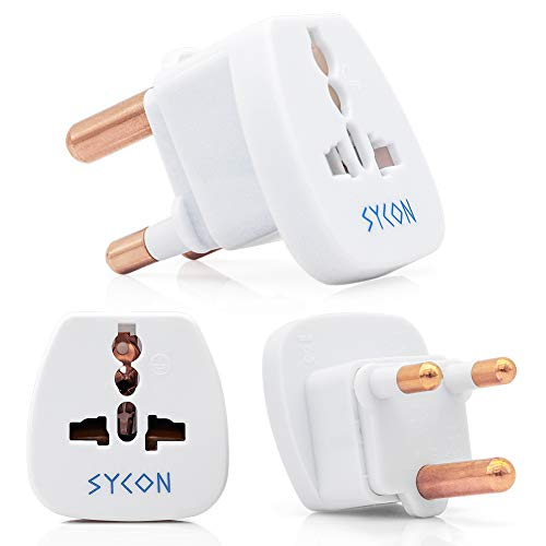 - Travel Adapter Plug for South Africa, Universal Plug Grounded Adapter Converter, 3 Pack by SYCON