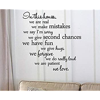 Decalgeek Wall Art Vinyl Decal, 22-inch x 22-inch - In this house