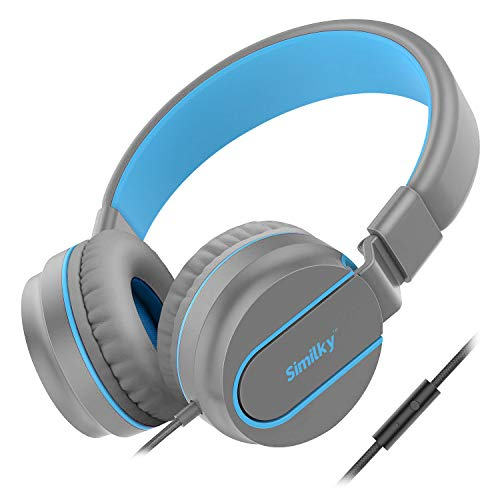 Kids Headphones for school boys and girls- SIMILKY Foldable Stereo Tangle-Free 3.5mm Jack Wired Cord On-Ear Headset for…