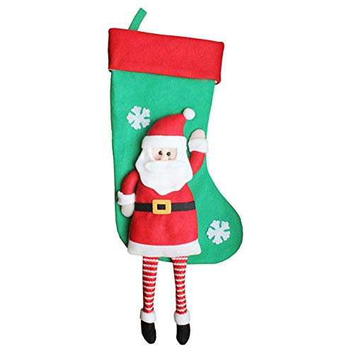 Stockings Gift Holders - Christmas Decoration Stocking Hanging Pendant Holders Gift Santa Claus Holder Bags Party Decor - Year Happy Claus Big Bakery Sack Ladybug Cup Large New -