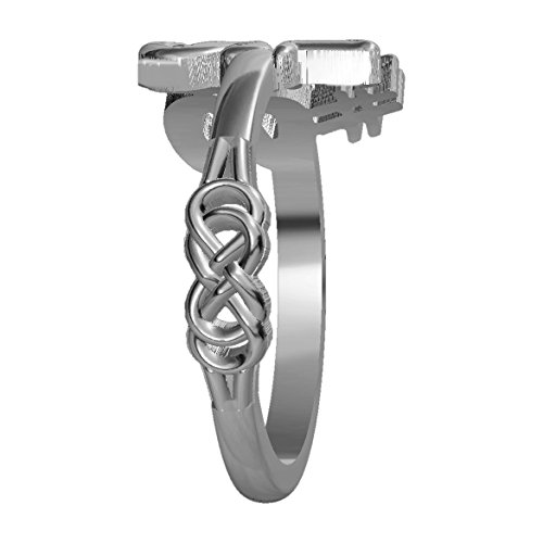 Infinity Love Knot Ring in 18k White Gold - size 5.5 by Sziro Infinity Rings (Image #1)