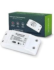 Interruptor Inteligente Smart Switch Wi-Fi Módulo Relé ON OFF, 1 Canal, 10A, Bivolt, Função Agenda, Controlado via Celular, Compatível com Alexa, Conectoz
