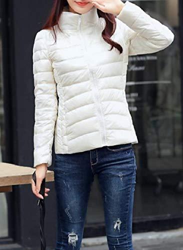 size Piumini Basamento Packable Collare Ultraleggero Xinheo Donne Bianchi Outwear Plus Del TnSfqwEA