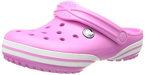 Crocs Kids Unisex Crocband-X  Clog (Toddler/Little Kid) Party Pink/White Clog/Mule 12-13 Little Kid M by Crocs