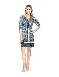 Hatley Peplum Sleeve Dress - Ornate Paisley Rainforest