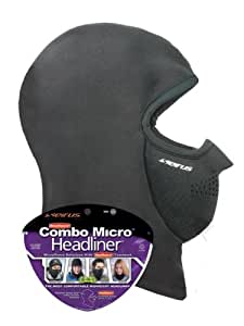Seirus Innovation Combo Micro Headliner Face Mask, Black, One Size