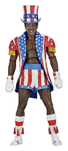 NECA Rocky 40Th Anniversary Scale Action Figure Series 2 Apollo (Uncle Sam Hat and Coat), 7""