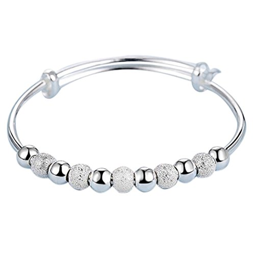 (Unpara Jewelry Silver-plated Bracelet With Exquisite Ball Wedding Bling Bracelet Gift (C))