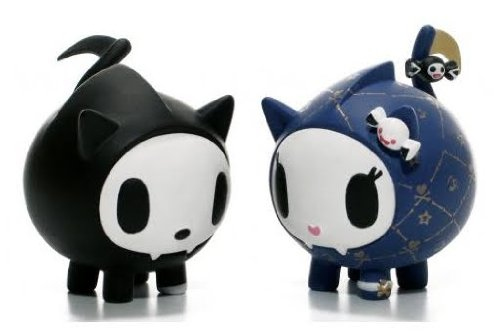 (Skeletrina and Skeletrino Kitties Vinyl Figure Tokidoki Cactus Friends Simone Legno)