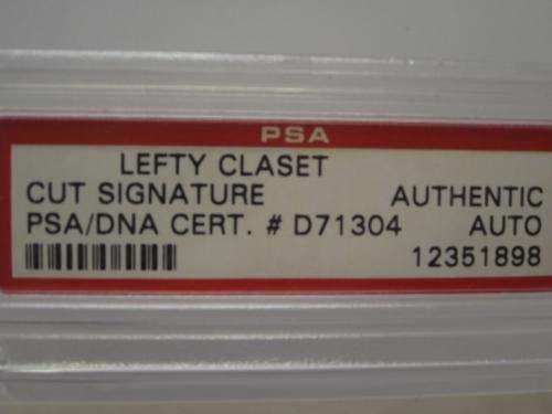 "Gowell""Lefty"" Claset Philadelphia A's cut signature Authentic Autograph PSA/DNA Certified MLB Cut Signatures"