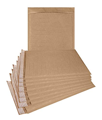 Natural Kraft Bubble mailers 25 Pack 6x9 Padded Envelopes 6 x 9 Brown Cushion mailers. Kraft Paper mailing envelopes with Peel-N-Seel. Bubble Shipping Bags. Wholesale - Mailing Envelopes Recycled