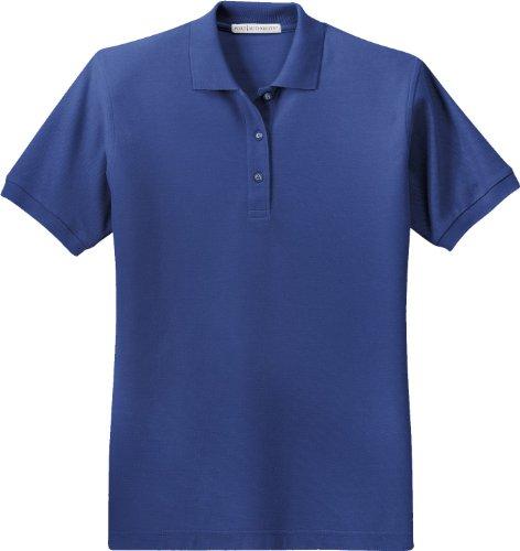 Port Authority Ladies Silk Touch Short-Sleeve Polo Shirt L500 Mediterranean Blue 2XL