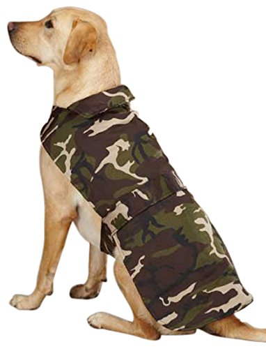 9792497d4f771 Amazon.com : Casual Canine Camo Barn Pet Coat, Medium, Green : Casual  Canine Camo Barn Dog Coat Blue : Pet Supplies