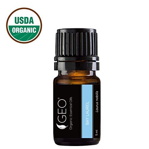 BAY LAUREL Organic Essential Oil | Antiseptic, Anti-inflammatory, Lymph Nodes | 5 ml | USDA Organic. Certified by CCOF | Sold by GEO Oils