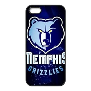 DIY case 1 NBA Team Memphis Grizzlies Print Black Case With Hard Shell Cover for Apple iPhone 5/5S