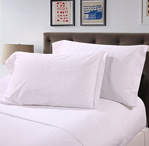 TSC Home Ultra Luxury Hotel Collection Sheet Set, 100% Premium Cotton, 300 Count, Sateen Solid, Soft and Silky Feel, Deep Pocket (TWIN, WHITE)