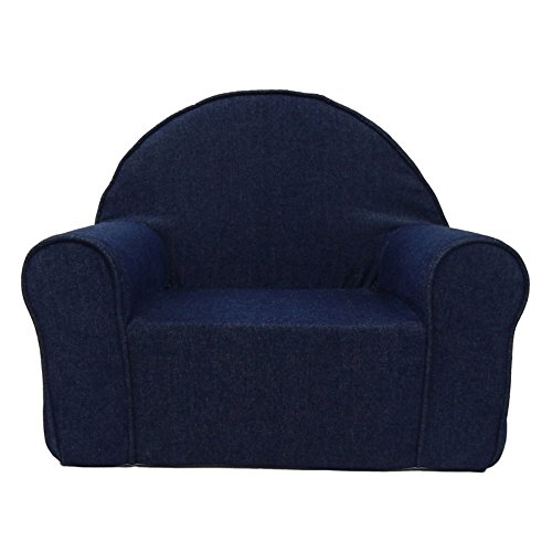 Fun Furnishings 60101 My First Kids Club Chair in Denim Fabric, Dark Blue Club Chair Denim