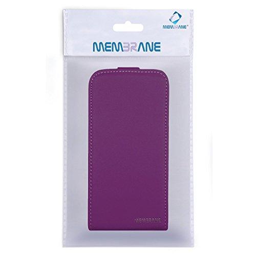 Membrane Funda Samsung Galaxy A5 2016 Carcasa Morado Ultra Slim Case Flip Cover Slim Morado