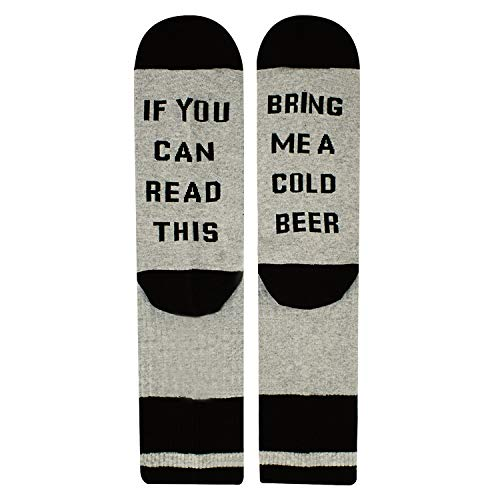 If You Can Read This Novelty Funny Saying Beer Crew Socks, Beer Gift for Women (Good Gifts For Guy Best Friend)