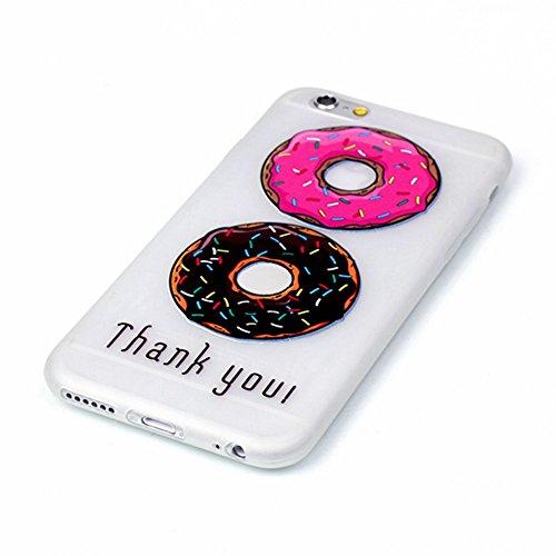 Powerq Noctilucentes Serie Modelo colorido TPU Caso Case < Red Heart Piano - for IPhone 6 6S IPhone6S IPhone6 >                                  luz luminosa en el oscuro patrón de la caja del teléfono celular Dibujo del proyecto de 2 donuts