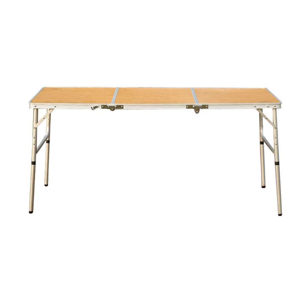 WangYi 折りたたみ式テーブル- 屋外の折り畳み式の携帯用ダイニングテーブル、自動運転の野生のアルミニウム折るテーブルのバーベキューのテーブル (色 : ライトイエロー, サイズ さいず : 150x60x70cm) 150x60x70cm ライトイエロー B07PKL9BY7
