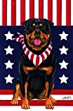Best of Breed Rottweiler - Tomoyo Pitcher Patriotic Large Flag