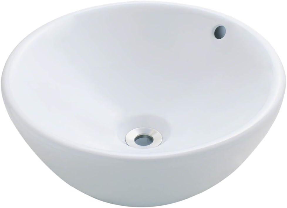 V2200-W White Porcelain Vessel Lavatory Sink