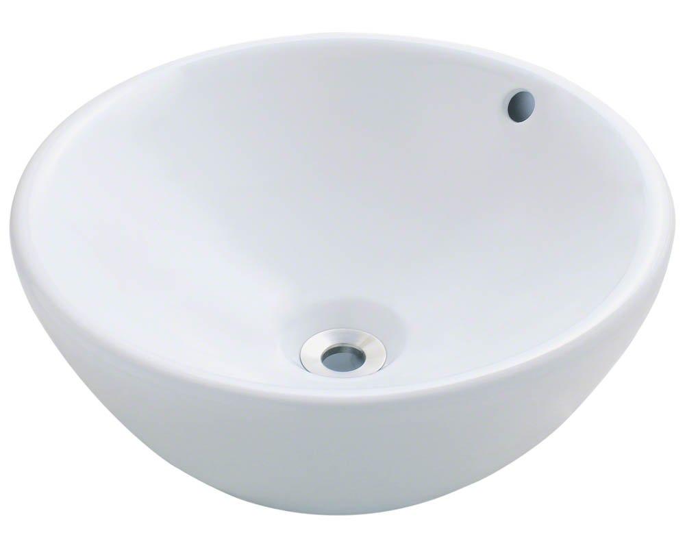 V2200-W White Porcelain Vessel Lavatory Sink by MR Direct